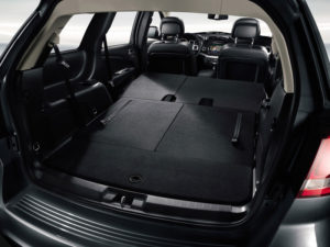 Сложенные сиденья Fiat Freemont