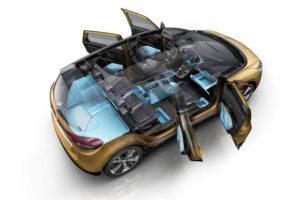 Renault Scenic - вид сверху