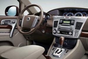 Водительское место - руль и приборная панель