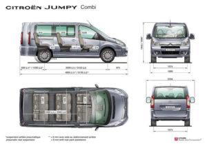 Citroen Jumpy Multispace - схема и размеры