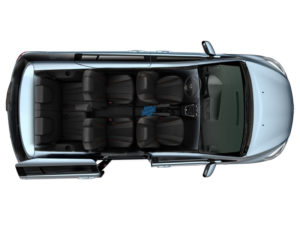 Вид сверху на салон Mazda 5